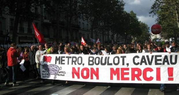 Manifestation de syndicats