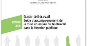 Guide télétravail Fonction publique