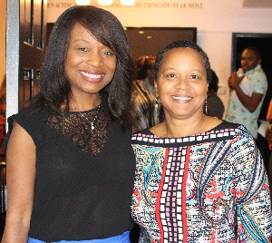 Judith Falloon-Reid (r) with Nne Ebong as Jamaican films win top awards at Caribbean film festival in Hollywood