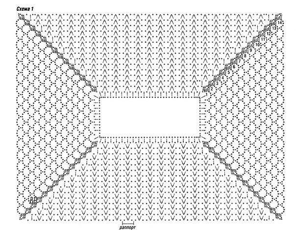 Вязание крючком реглан сверху схемы 8
