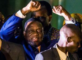Emmerson Mnangagwa hails 'new democracy' in Zimbabwe