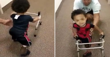 Inspirational 1 Year Old Amputee Keeps Pushing Forward. OMG My Heart Is Melting.