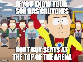 For my dad who just bought hockey tickets.
