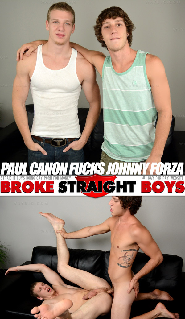 Paul Canon Fucks Johnny Forza at Broke Straight Boys