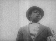 Screen shot of Fred Lucas from film on the 1931 Hunger Strike.