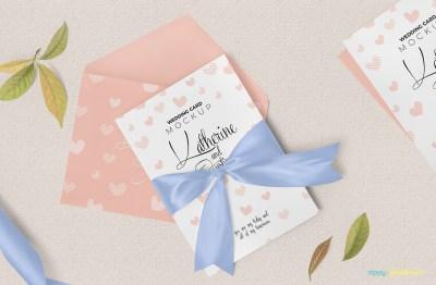 Sophisticated Wedding Invitation Mockup Free PSD   ZippyPixels