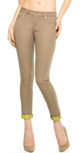 Just Fab contrast cuff jeans