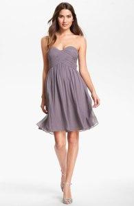 Donna Morgan Silk Strapless Wedding Guest Dress
