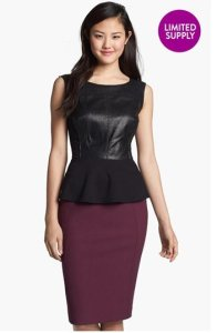 Halogen Leather Peplum NAS