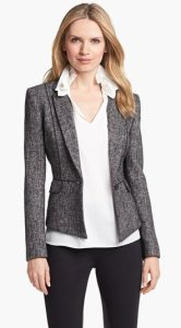 Elie Tahari Metallic Tweed Jacket NAS
