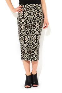 midi patterned skirt