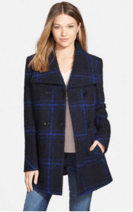 nordstrom maralyn and me plaid blue coat