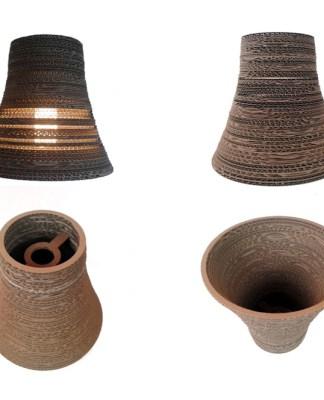 REWERS 1 - lampa z kartonu