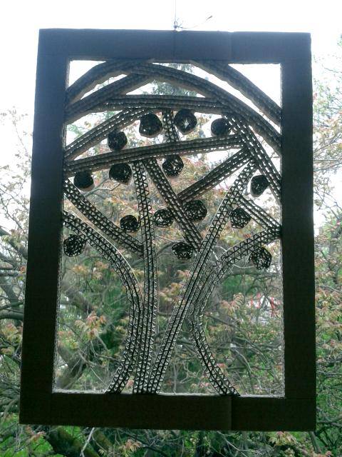 Ozdoby na okna z kartonu