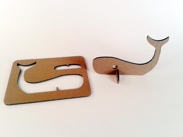 Kartonowe pływające zwierzaki  - Wieloryb 1 / Cardboard swimming toys  – Whale 1