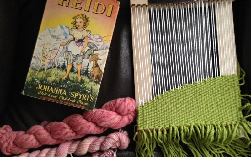 Weaving Heidi | Making a literary wall hanging