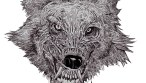 Zombie Art : Wolf Head of the Living Dead - Zombie Art by Rob Sacchetto
