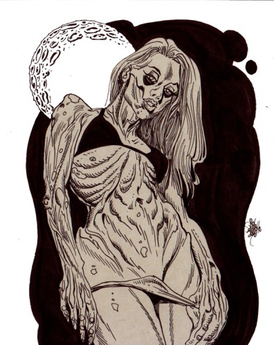Zombie Art Pinup #209/Zombie Playing Cards Zombie Art by Rob Sacchetto