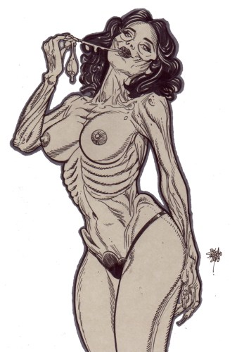 Zombie Art : Zombie Pinup #229 Zombie Art by Rob Sacchetto