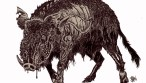 Zombie Art : Zombie Black Boar Zombie Art by Rob Sacchetto