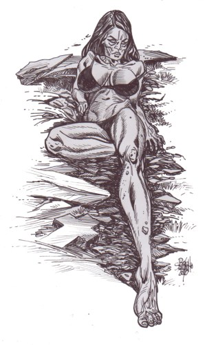Zombie Art Zombie Pinup #331 Zombie Art by Rob Sacchetto