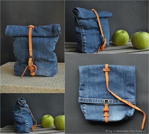 tas makanan jeans bekas