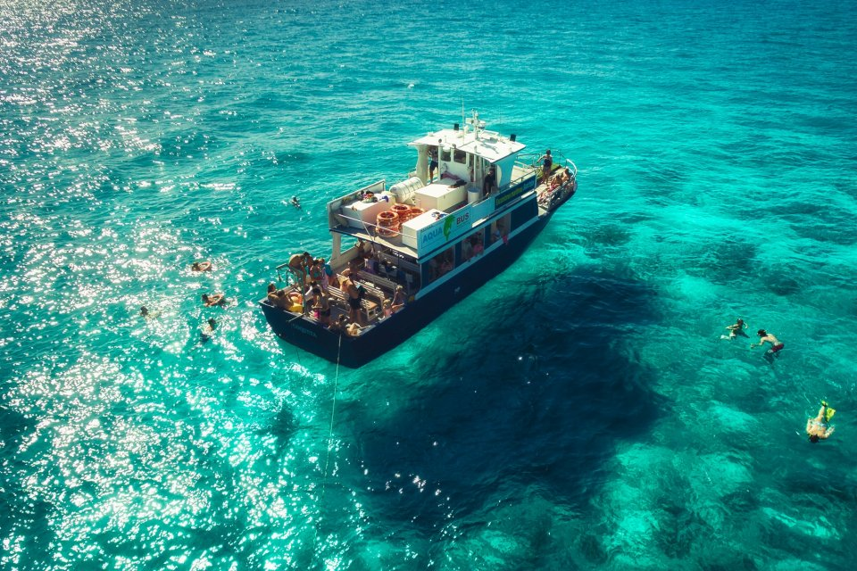 Aquabus   Ibiza island tour from San Antonio   Ibiza Spotlight See the entirety of Ibiza s stunning coastline  take a swim  see old town  Ibiza and return by magical sunset on this superb all day trip