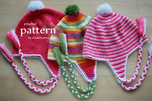 crochet pattern - earflap beanie