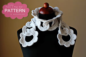 ring scarf pattern, pdf tutorial, pictures, step by step, images