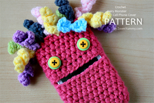 hairy-monster-cell-phone-cover-pattern