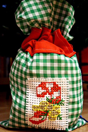 handmade Christmas sacks