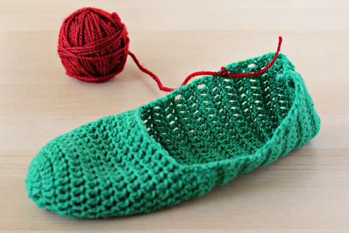 How to make simple crochet slippers 12