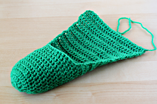 How to make simple crochet slippers 9