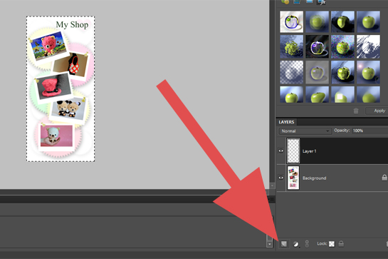 Photography, How To Add A Border To A Picture step by step picture tutorial, in the right-hand layer palette click on the create a new layer icon