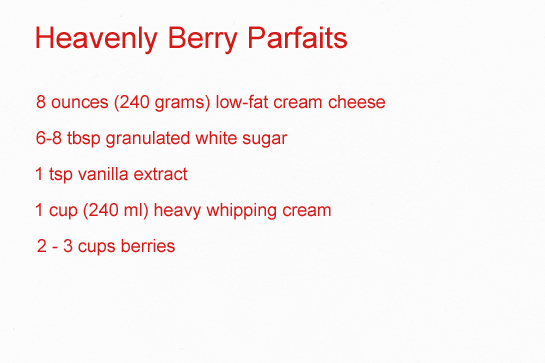 berry parfaits recipe with step by step pictures, ingredients
