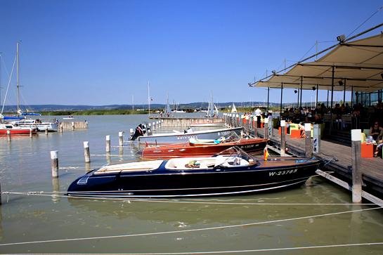 lake, boats, summer, people bathing, Austria, holiday, vacation, lake, Neusield See, Lake Neusiedl
