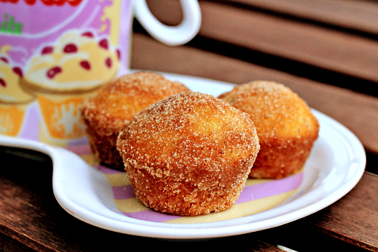 donut miniature muffins step by step recipe