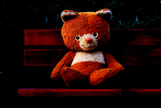 free, free wallpaper, free desktop background, desktop background, toy desktop background, desktop background for kids, teddy bear sitting on bench in park