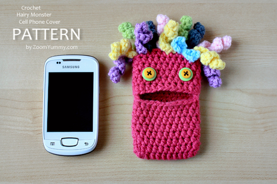 crochet-pattern-hairy-monster-cell-phone-cover