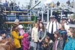 Polacy z Kłajpedy na gościnnym statku