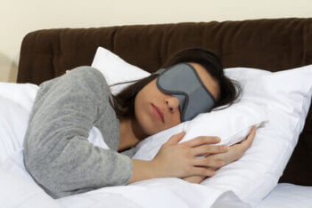 Sleeping in sleep mask