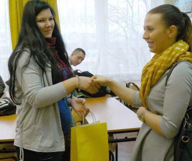 Anna Kuczyńska z wychowawcą