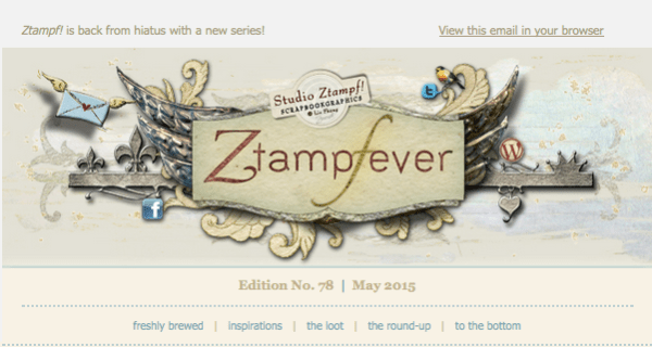 Ztampfever Newsletter No.78 has been released with a discount coupon inside!