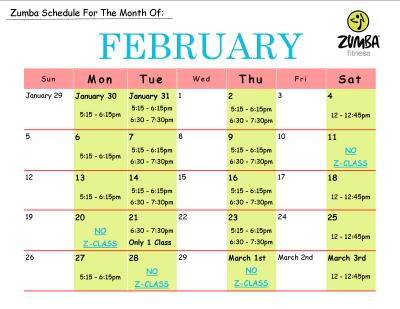Zumba Exhilarate Workout Schedule | EOUA Blog