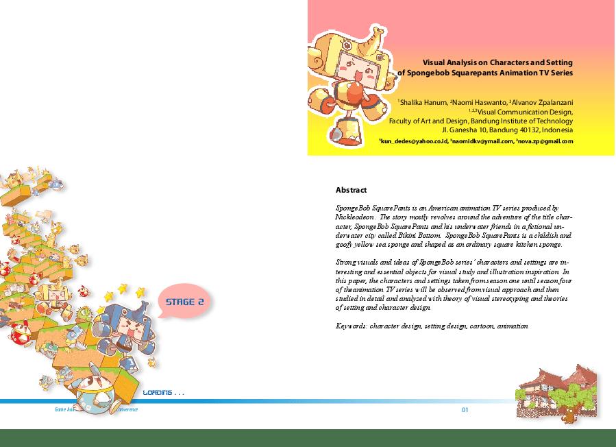 Pdf Visual Analysis On Characters And Setting Of Spongebob Squarepants Animation Tv Series Alvanov Mansoor Academia Edu