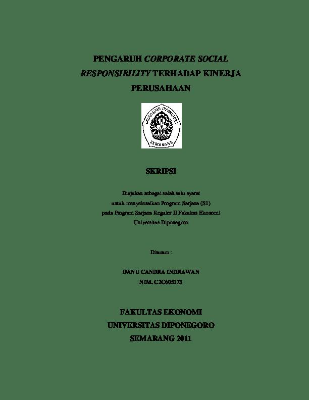 17 Judul Skripsi Corporate Social Responsibility