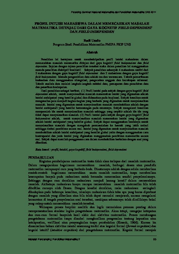Download Skripsi Pendidikan Matematika Gratis