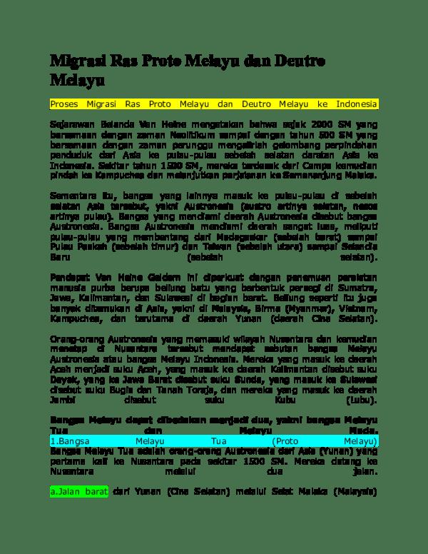Suku Bangsa Yang Merupakan Keturunan Dari Bangsa Proto Melayu Adalah : bangsa, merupakan, keturunan, proto, melayu, adalah, Proto, Melayu, Deutro