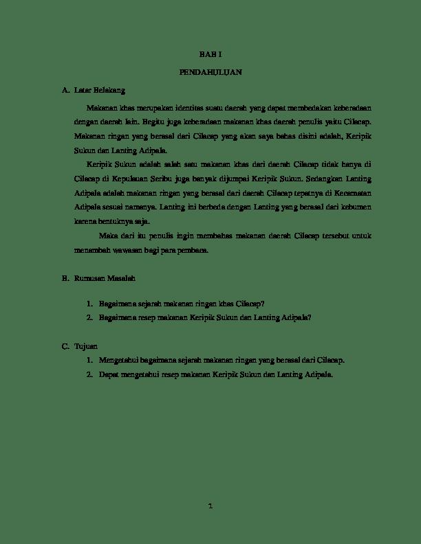 Contoh Proposal Usaha Atau Rencana Bisnis