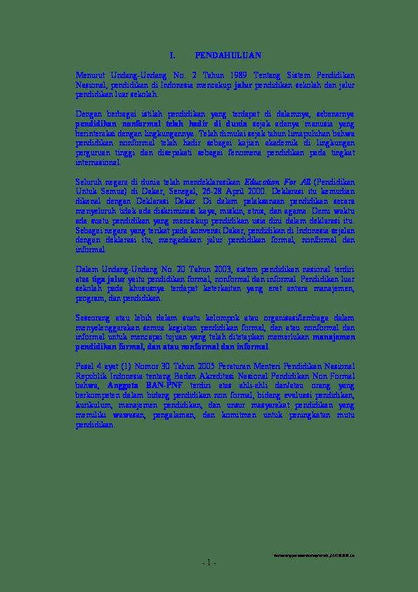 17 Makalah Pendidikan Formal Informal Dan Nonformal